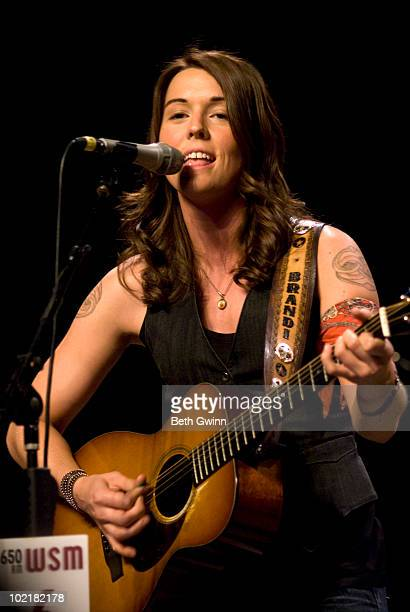 Brandi Carlile performs during Music City Roots at The Loveless Barn on June 16 2010 in Nashville Tennessee
