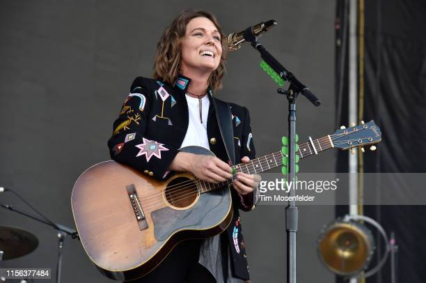Brandi Carlile performs during the 2019 Bonnaroo Music Arts Festival on June 16 2019 in Manchester Tennessee