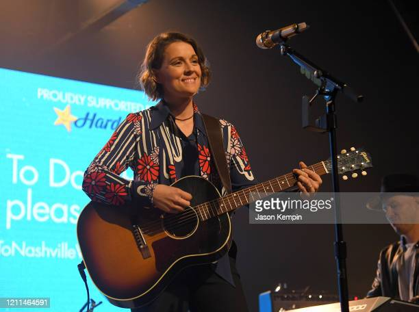 Brandi Carlile performs during To Nashville With Love A Concert Benefiting Local Tornado Relief Efforts at Marathon Music Works on March 09 2020 in...