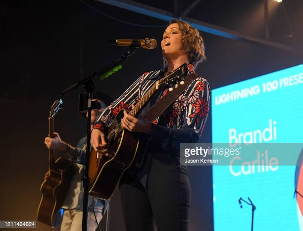 Brandi Carlile performs during To Nashville, With Love A Concert Benefiting Local Tornado Relief Efforts at Marathon Music Works on March 09, 2020 in...
