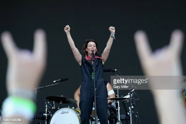 AUSTIN TX October 13 Brandi Carlile performs in concert during the second weekend of ACL Music Festival at Zilker Park on October 13 2018 in Austin...