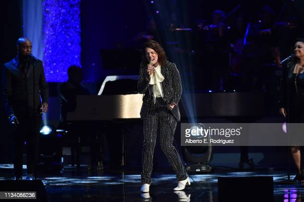 Brandi Carlile performs onstage at AllStar Lineup Pays Tribute At 'Aretha A GRAMMYCelebration For The Queen Of Soul at The Shrine Auditorium on...