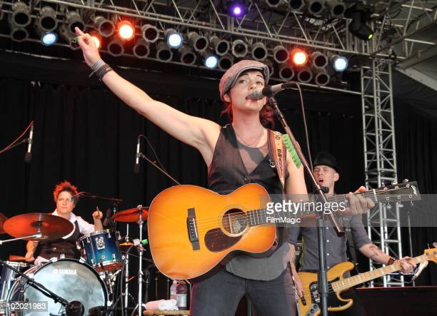 Brandi Carlile performs onstage during Bonnaroo 2010 at That Tent on June 12 2010 in Manchester Tennessee