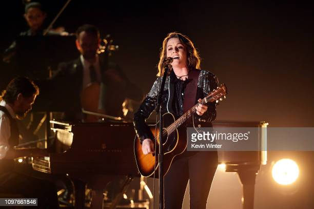 Brandi Carlile performs onstage during during the 61st Annual GRAMMY Awards at Staples Center on February 10 2019 in Los Angeles California