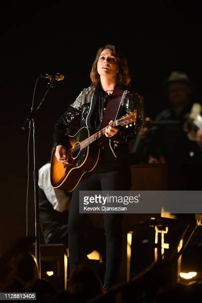 Brandi Carlile performs onstage during the 61st Annual GRAMMY Awards at Staples Center on February 10 2019 in Los Angeles California
