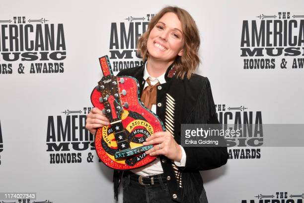 Brandi Carlile seen backstage during the 2019 Americana Honors Awards at Ryman Auditorium on September 11 2019 in Nashville Tennessee