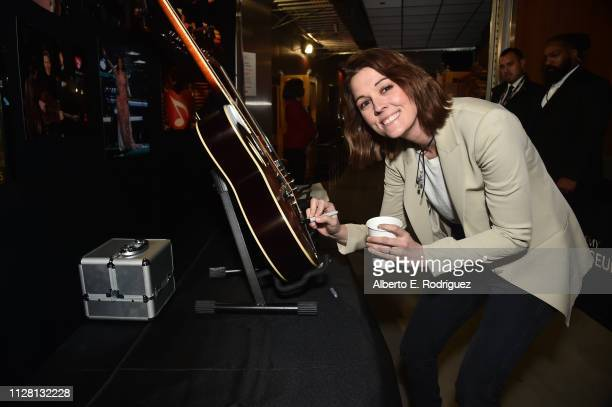 Brandi Carlile with the charity signings during the 61st Annual GRAMMY Awards at Staples Center on February 07 2019 in Los Angeles California
