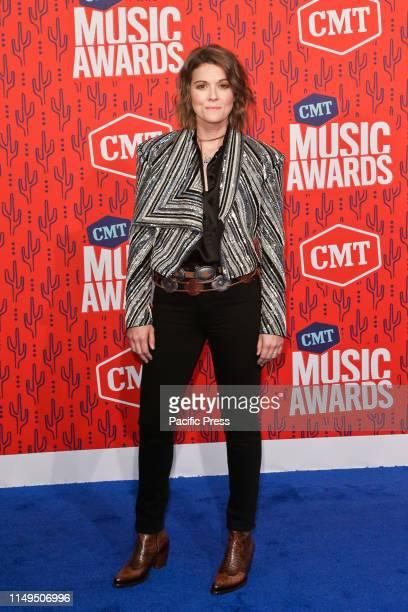 Brandi Carlisle attends the 2019 CMT Music Awards at the Bridgestone Arena in Nashville Tennessee