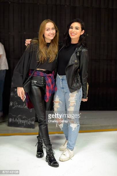 Brandi Cyrus and Ashley Iconetti attend Maybelline New York FH18 Launch Party at Quixote Studios on November 16 2017 in Los Angeles California