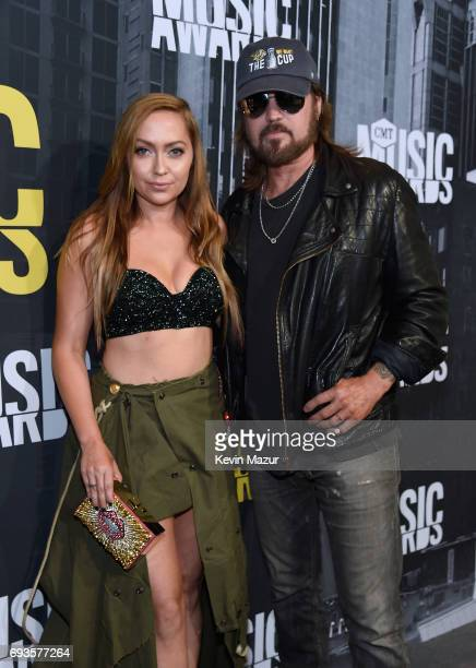 Brandi Cyrus and Billy Ray Cyrus attend the 2017 CMT Music Awards at the Music City Center on June 7 2017 in Nashville Tennessee