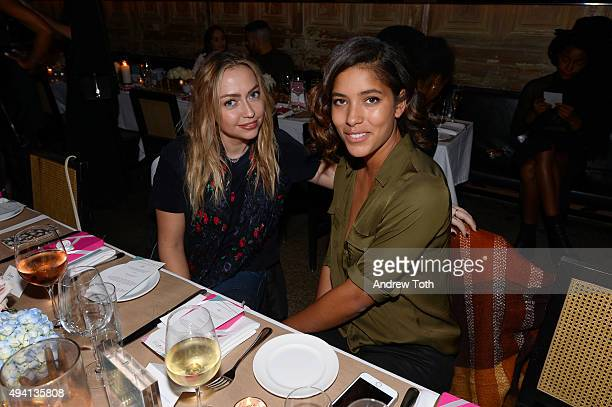 Brandi Cyrus and Christina Caradona attend Simply Stylist 'Do What You Love' Fashion Beauty Conference VIP Dinner with Dove Dry Spray at Saxon Parole...