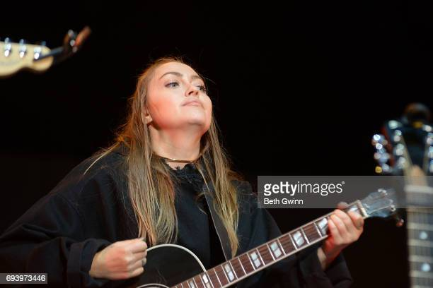 Brandi Cyrus appears on the Cracker Barrel Stage during CMA Fest on June 8 2017 in Nashville Tennessee