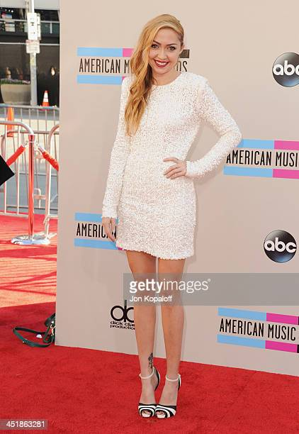 Brandi Cyrus arrives at the 2013 American Music Awards at Nokia Theatre LA Live on November 24 2013 in Los Angeles California