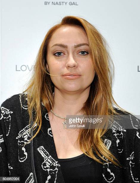Brandi Cyrus attends Love Courtney by Nasty Gal launch party at Nasty Gal on January 13 2016 in Los Angeles California