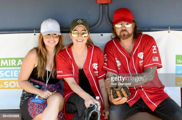 Brandi Cyrus Kellie Pickler and Billy Ray Cyrus attend the 27th Annual City of Hope Celebrity Softball Game at First Tennessee Park on June 10 2017...