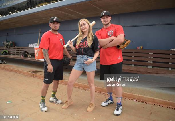 Brandi Cyrus visits First Tennessee Park on May 22 2018 in Nashville Tennessee