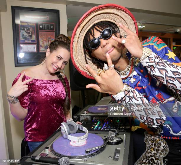 Brandi Garcia and Swae Lee of Rae Sremmurd at Backstage Creations Celebrity Retreat at Teen Choice 2017 Day 2 at Galen Center on August 13 2017 in...
