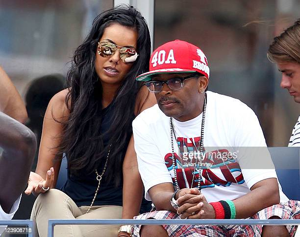 Brandi Garnett and director Spike Lee attend Day Eight of the 2011 US Open at the USTA Billie Jean King National Tennis Center on September 5 2011 in...