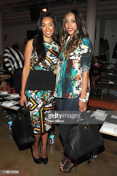 Brandi Garnett and Julie Landrum attend the Peter Som Spring 2014 fashion show during MercedesBenz Fashion Week at Milk Studios on September 6 2013...