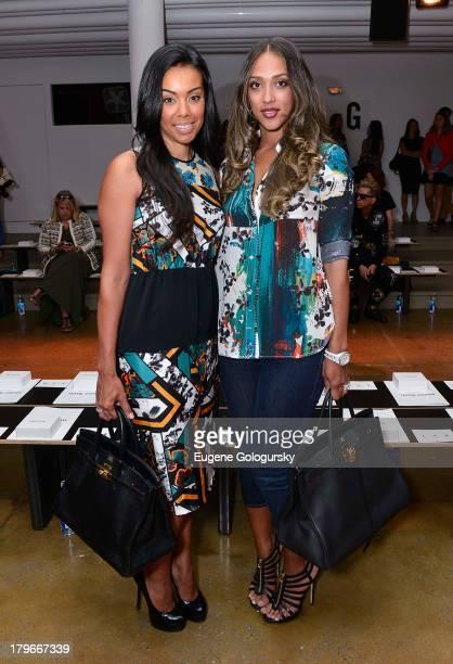 Brandi Garnett and Julie Pierce attend the Peter Som show during Spring 2014 MercedesBenz Fashion Week at Milk Studios on September 6 2013 in New...