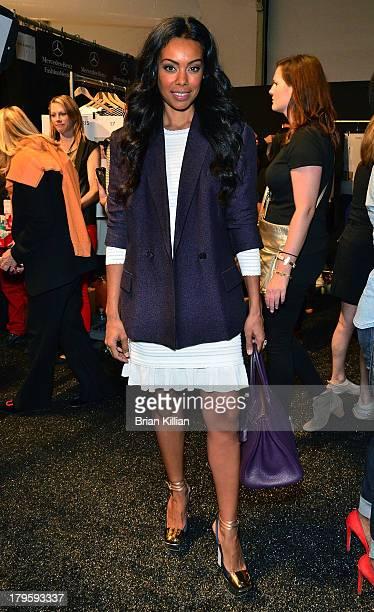 Brandi Garnett attends the Richard Chai -- Love & Richard Chai Men's show during Spring 2014 Mercedes-Benz Fashion Week at The Stage at Lincoln...