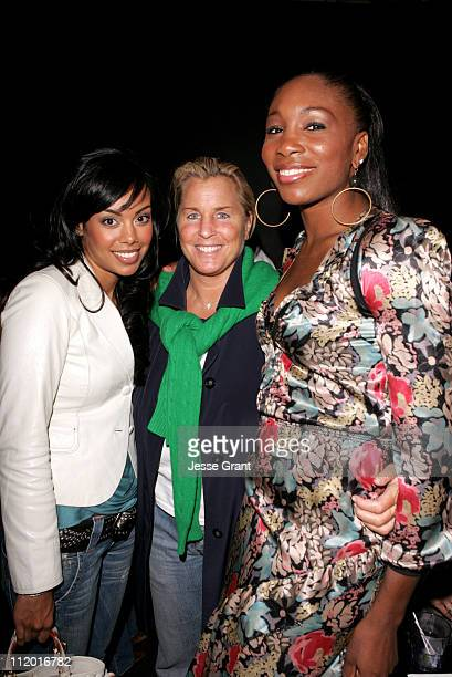 Brandi Garnett Jill Smoller and Venus Williams during TEEN VOGUE and Choice Calvin Klein Event at The Roxy at The Roxy in West Hollywood California...