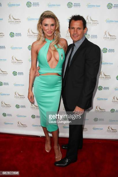 Brandi Glanville and Donald DJ Friese attend the Steve Irwin Gala Dinner at the SLS Hotel at Beverly Hills on May 13 2017 in Los Angeles California