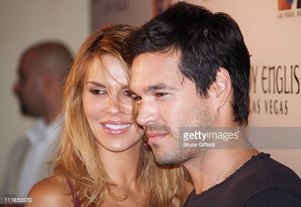 Brandi Glanville and Eddie Cibrian during OneYear Anniversary Weekend of Body English at The Hard Rock Hotel and Casino in Las Vegas Nevada United...