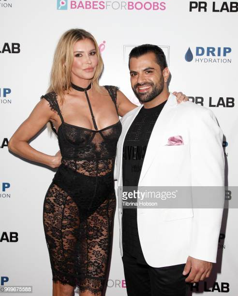 Brandi Glanville and Shervin Roohparvar attend the Babes for Boobs live auction benefiting Susan G Komen LA at El Rey Theatre on June 7 2018 in Los...