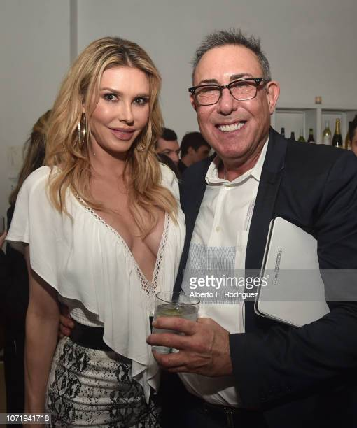 Brandi Glanville and WE tv President Marc Juris attend WE tv celebrates the return of Love After Lockup with panel Real Love Relationship Reality...
