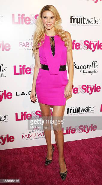 Brandi Glanville arrives at Life Style presents Hollywood In Bright Pink held at Bagatelle on October 9 2013 in Los Angeles California