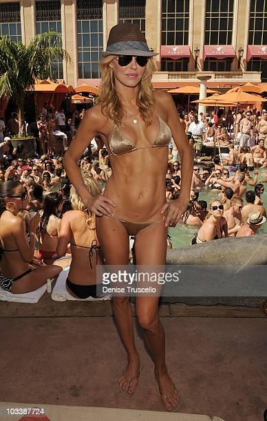 Brandi Glanville attends at TAO Beach on August 14 2010 in Las Vegas Nevada