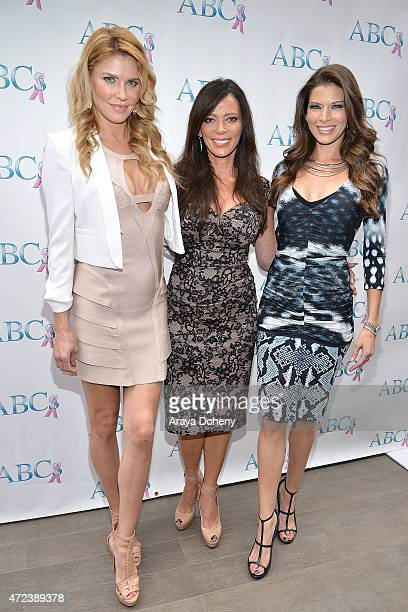 Brandi Glanville Carlton Gebbia and Adrienne Janic attend the ABCs Mother's Day Luncheon at Four Seasons Hotel Los Angeles at Beverly Hills on May 6...