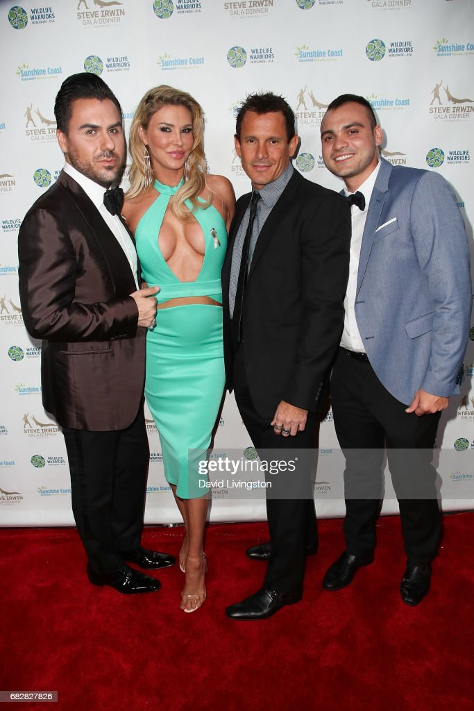 Brandi Glanville, Donald 'DJ' Friese and guests attend the Steve Irwin Gala Dinner at the SLS Hotel at Beverly Hills on May 13, 2017 in Los Angeles, California.