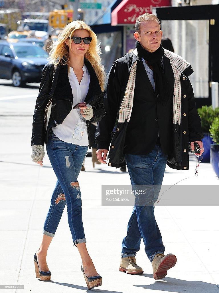 Brandi Glanville is seen in Soho on April 3, 2013 in New York City.