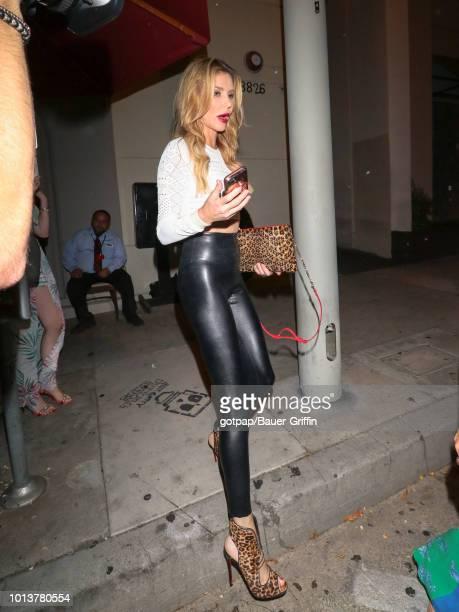 Brandi Glanville is seen on August 08 2018 in Los Angeles California