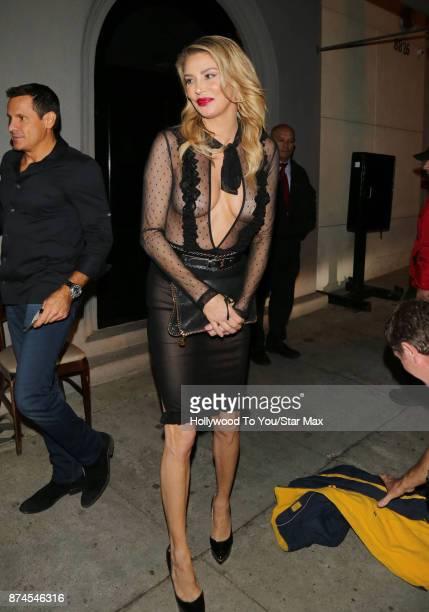 Brandi Glanville is seen on November 14 2017 in Los Angeles CA