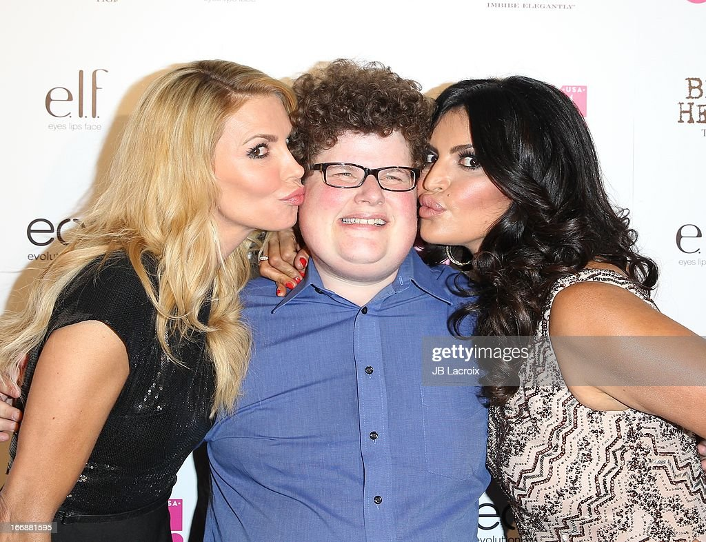 Brandi Glanville, Jesse Heiman and Jennifer Gimenez attend the OK! Magazine's 'So Sexy' party at Mondrian Los Angeles on April 17, 2013 in West Hollywood, California.