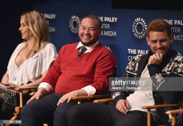 Brandi Glanville Jon Gosselin and Nick Viall speak onstage during WE tv celebrates the return of Love After Lockup with panel Real Love Relationship...