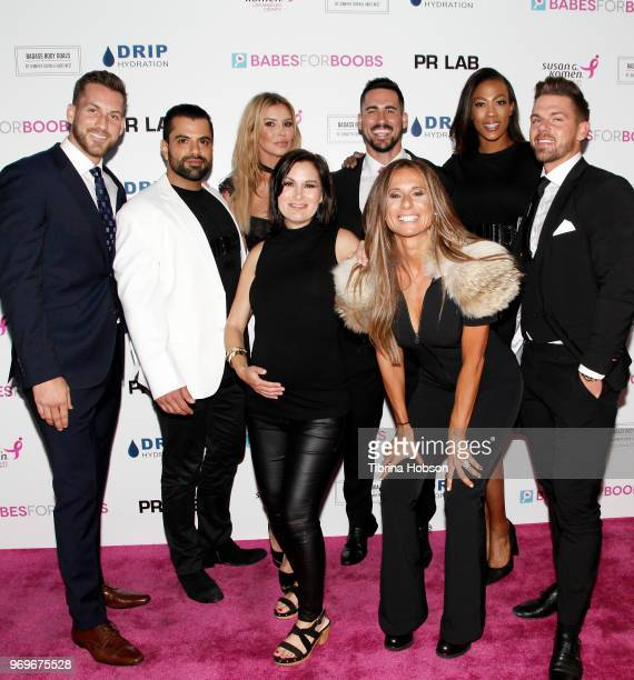 Brandi Glanville Niki Ostin Jennifer Cohen and Participating Bachelors attend the Babes for Boobs live auction benefiting Susan G Komen LA at El Rey...