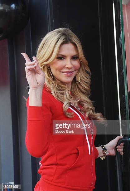 Brandi Glanville on the set of Celebrity Apprentice on March 25 2014 in New York City