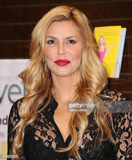 Brandi Glanville signs copies of her new book Drinking Dating at Barnes Noble bookstore at The Grove on February 19 2014 in Los Angeles California