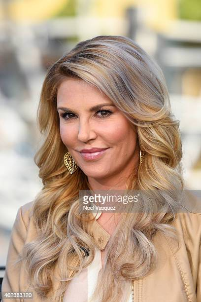 Brandi Glanville visits Extra at Universal Studios Hollywood on January 27 2015 in Universal City California