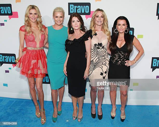 Brandi Glanville Yolanda Foster Lisa Vanderpump Taylor Armstrong and Kyle Richards of The Real Housewives of Beverly Hills attend the 2013 Bravo...