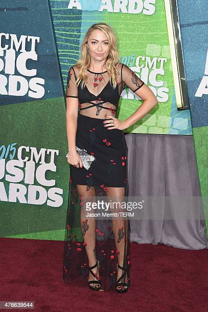 Brandi Glenn Cyrus attends the 2015 CMT Music awards at the Bridgestone Arena on June 10 2015 in Nashville Tennessee