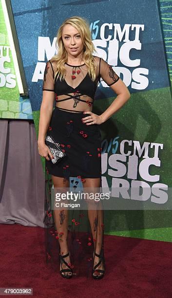 Brandi Glenn Cyrus attends the 2015 CMT Music awards at the Bridgestone Arena on June 10 2015 in Nashville Tennessee