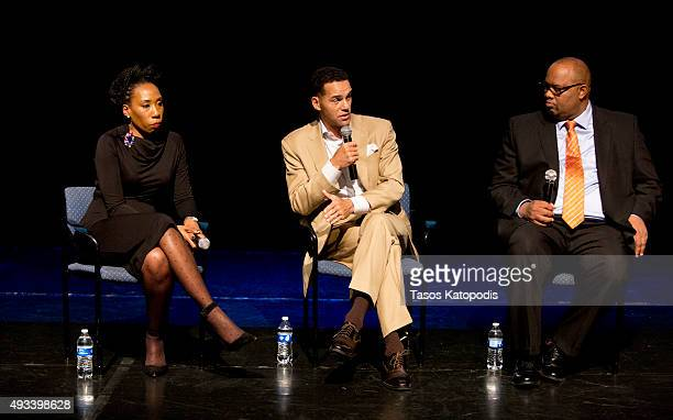 Brandi Harvey Steve Pemberton and Pastor Corey Brooks attend the CNN and the Steve and Marjorie Harvey Foundation host This is Life with Lisa Ling...