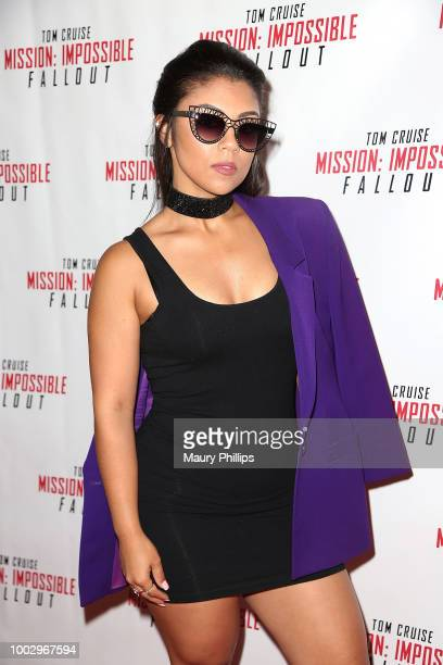 Chris Beaver Boomer Mobley and Hayley Mortimer attend Mission Impossible Fallout Screening on July 20 2018 in Los Angeles California
