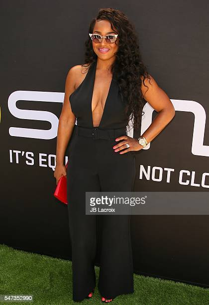 Brandi Maxiell attends the Greg Louganis' PreESPY Awards Wheaties Breakfast for Champions at the Starving Artists Project on July 13 2016 in Los...