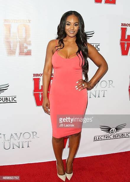 Brandi Maxiell attends the premiere of 'Brotherly Love' at SilverScreen Theater at the Pacific Design Center on April 13 2015 in West Hollywood...